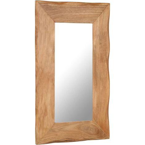 Hommoo Cosmetic Mirror 50x80 cm Solid Acacia Wood