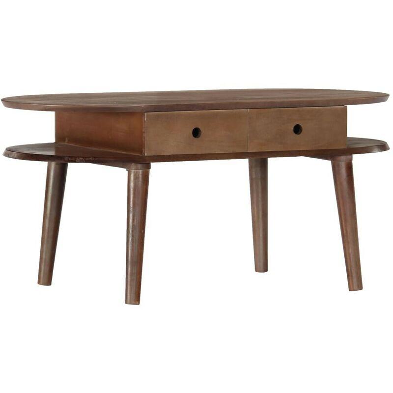 Hommoo Couchtisch 100x50x46 cm Massivholz Akazie VD23939