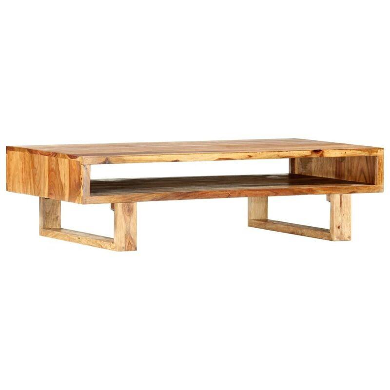 Couchtisch 110x55x30 cm Massivholz VD37327 - Hommoo