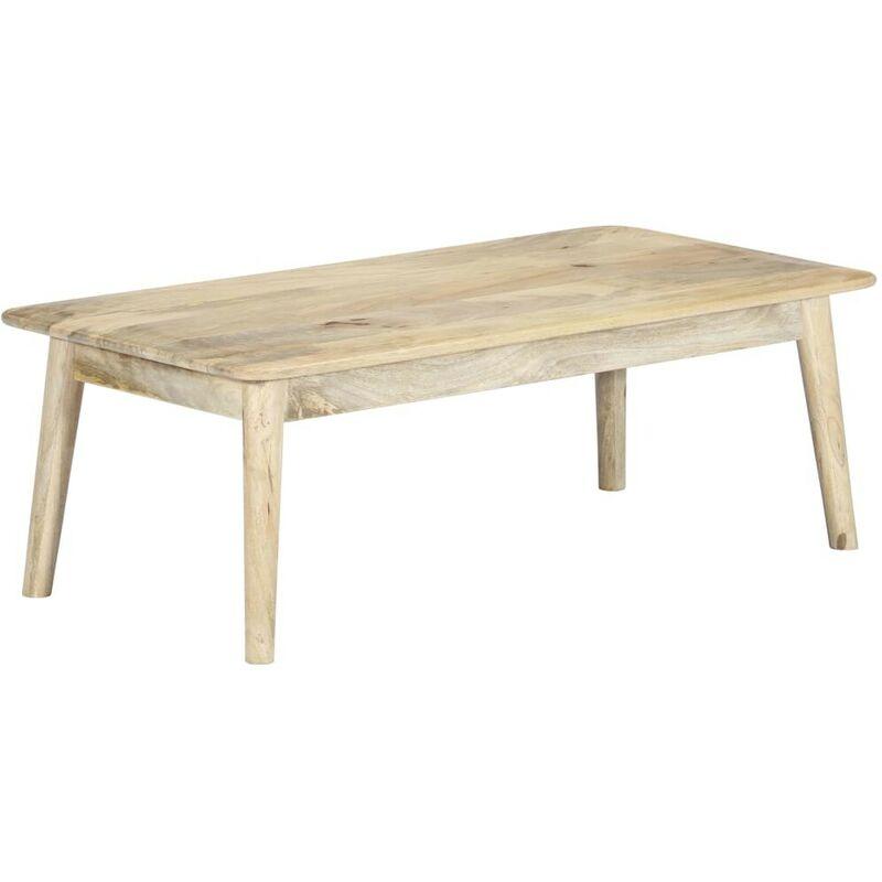 Hommoo Couchtisch 115x60x40 cm Massivholz Mango VD23802