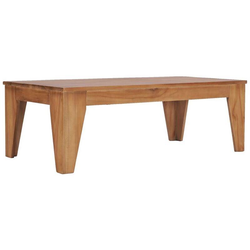 Hommoo Couchtisch 120 x 60 x 40 cm Teak Massivholz VD36692