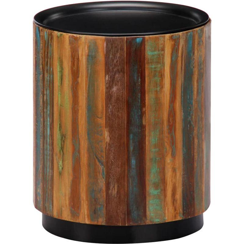 Hommoo Couchtisch 38 x 45 cm Recyceltes Massivholz VD13511
