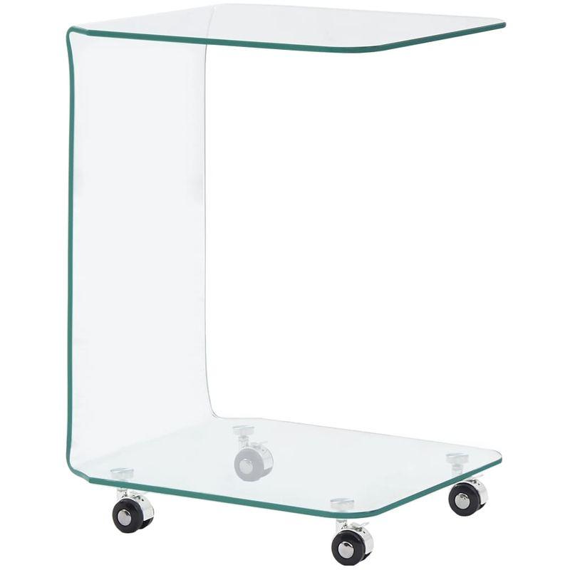 Hommoo Couchtisch 45 x 40 x 63 cm Hartglas VD25026