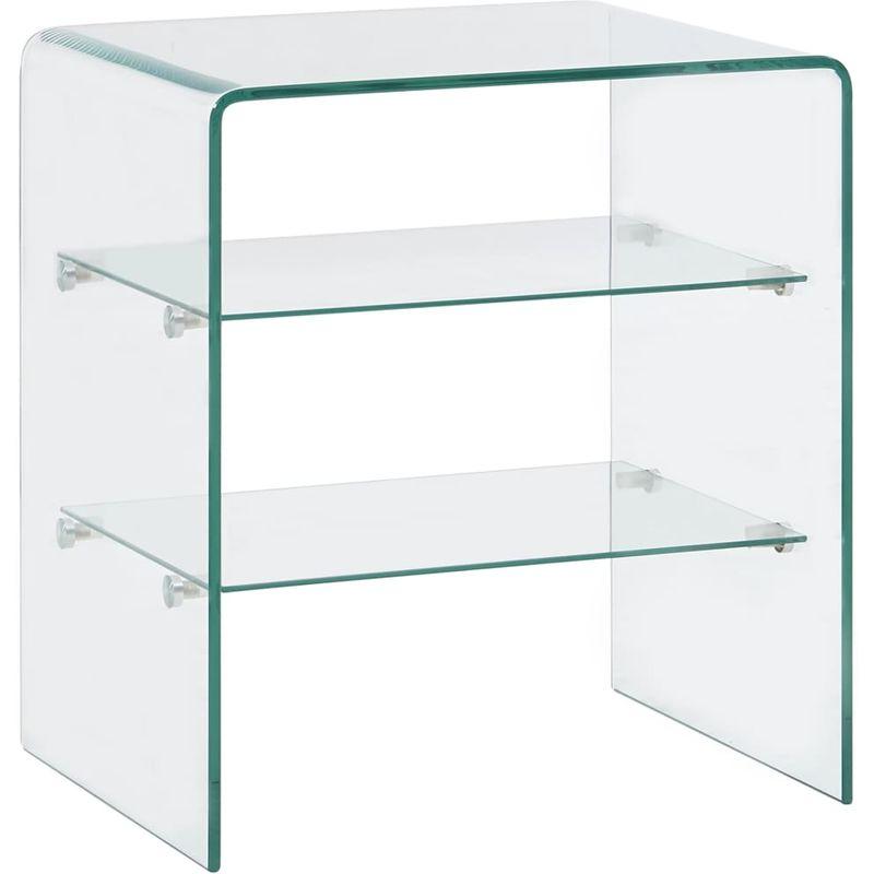Hommoo Couchtisch 50 x 40 x 56 cm Hartglas VD25027