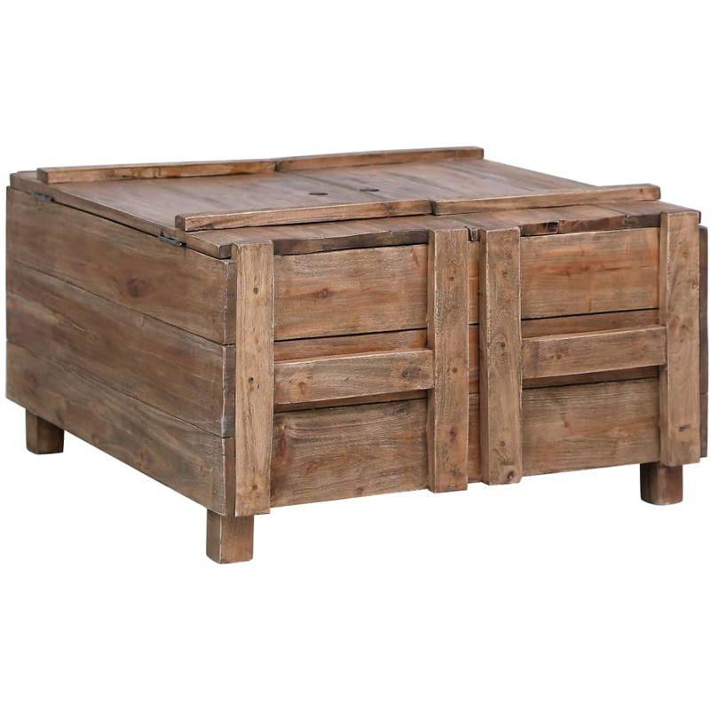 Couchtisch 65x65x38 cm Recyceltes Massivholz VD24567 - Hommoo