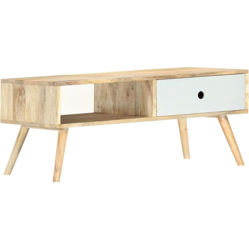 Couchtisch 90x50x40 cm Massivholz Mango VD36801 - Hommoo