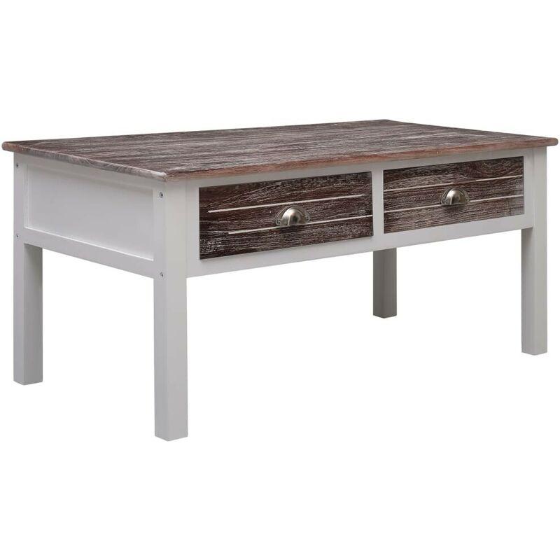 Hommoo Couchtisch Braun 100 x 50 x 45 cm Holz VD24675