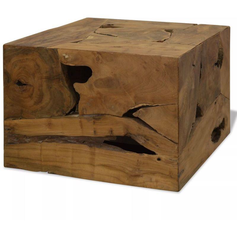 Hommoo Couchtisch Echtholz 50 x 50 x 35 Braun VD10650