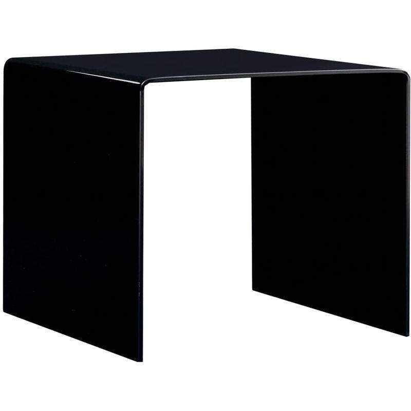 Hommoo Couchtisch Schwarz 50x50x45 cm Hartglas VD25023