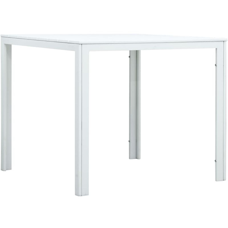 Hommoo Couchtisch Weiß 78x78x74 cm HDPE Holzoptik VD30258