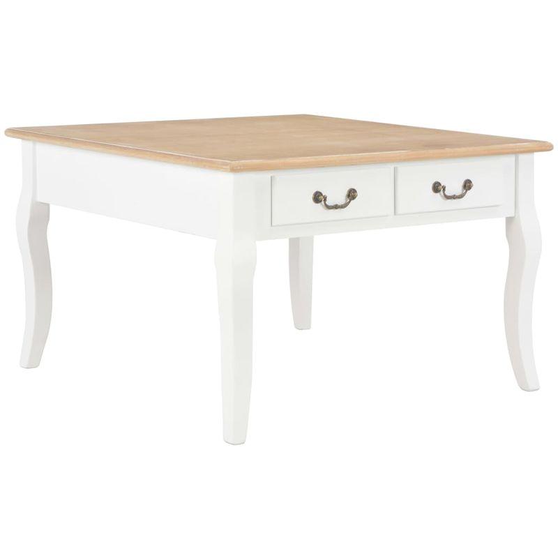 Hommoo Couchtisch Weiß 80 x 80 x 50 cm Holz VD22214