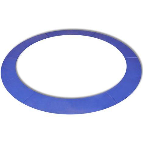 Hommoo Coussin de sécurité PE trampoline rond de 13 pieds/3,96 m Bleu