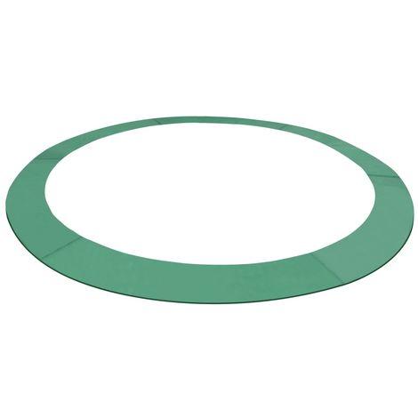 Hommoo Coussin de sécurité PE Vert pour trampoline rond 4,26 m