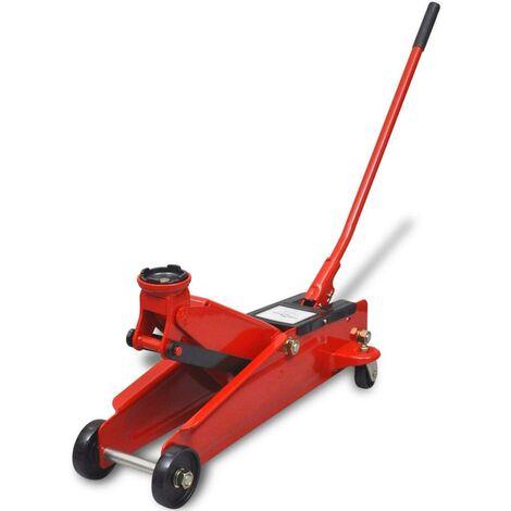 Hommoo Cric de plancher hydraulique à profile bas 3 tonnes Rouge HDV07773