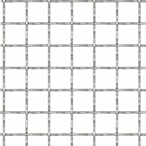 Hommoo Crimped Garden Wire Fence Stainless Steel 100x85 cm 31x31x3 mm QAH04426