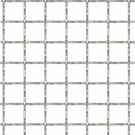 Hommoo Crimped Garden Wire Fence Stainless Steel 50x50 cm 31x31x3 mm QAH04425