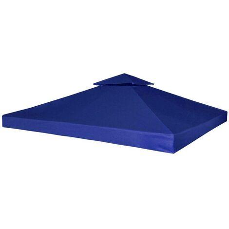 Hommoo Cubierta de repuesto de cenador 310 g/m2 azul oscuro 3x3 m