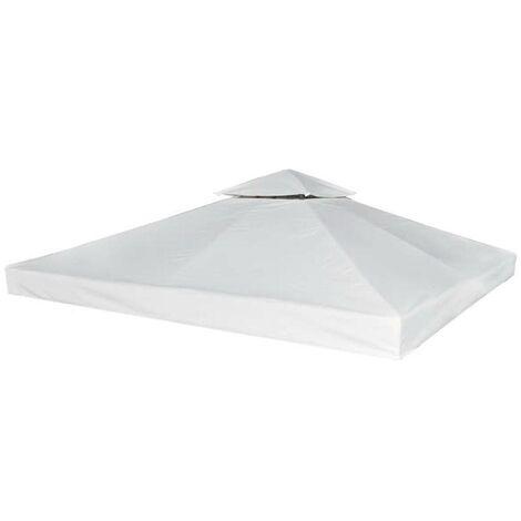Hommoo Cubierta de repuesto de cenador 310 g/m2 blanco crema 3x3 m