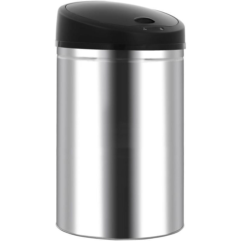 Cubo de basura con sensor automático 62 L acero inoxidable - Hommoo