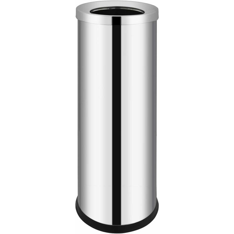Cubo de basura para hotel de acero inoxidable 32 L HAXD30851 - Hommoo