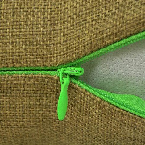 Hommoo Cushion Covers 4 pcs Linen-look Green 80x80 cm QAH00993