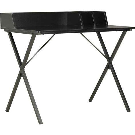 Hommoo Desk Black 80x50x84 cm