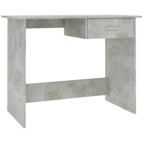 Hommoo Desk Concrete Grey 100x50x76 cm Chipboard QAH31587