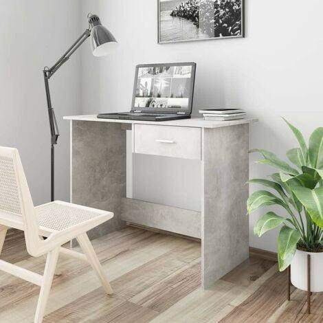 Hommoo Desk Concrete Grey 100x50x76 cm Chipboard VD31587