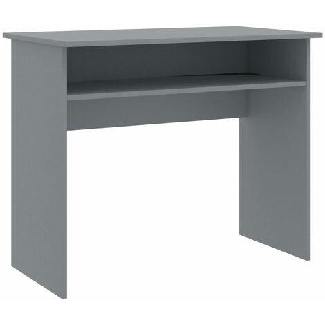Hommoo Desk Grey 90x50x74 cm Chipboard QAH47463