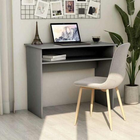 Hommoo Desk Grey 90x50x74 cm Chipboard VD47463