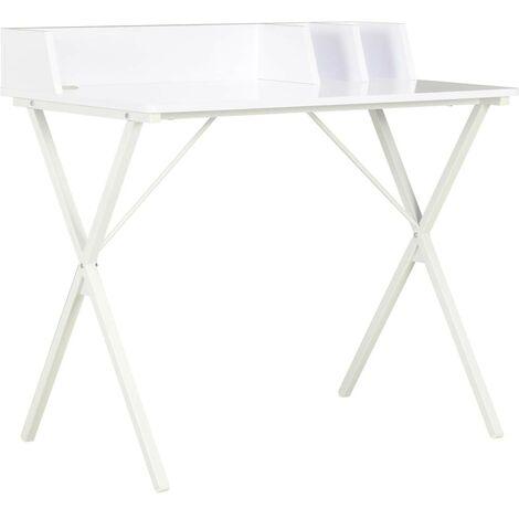 Hommoo Desk White 80x50x84 cm