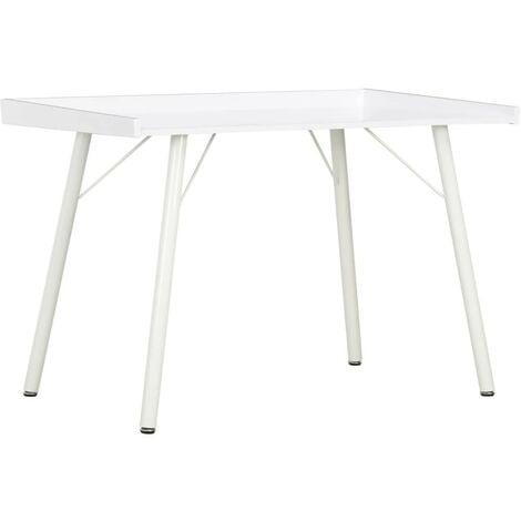 Hommoo Desk White 90x50x79 cm
