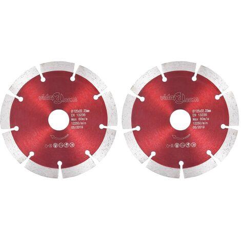 Hommoo Diamant-Trennscheiben 2 Stk. Stahl 125 mm VD34823