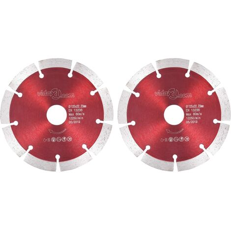 Hommoo Diamond Cutting Discs 2 pcs Steel 125 mm VD34823