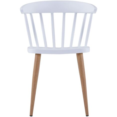 Hommoo Dining Chairs 4 pcs White Plastic QAH19086