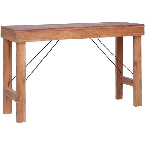 Hommoo Dining Table 120x55x78 cm Solid Reclaimed Wood