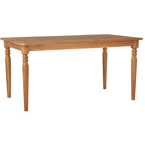 Hommoo Dining Table 150x90x75 cm Solid Acacia Wood VD19660