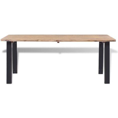Hommoo Dining Table Solid Acacia Wood 170x90 cm QAH11638