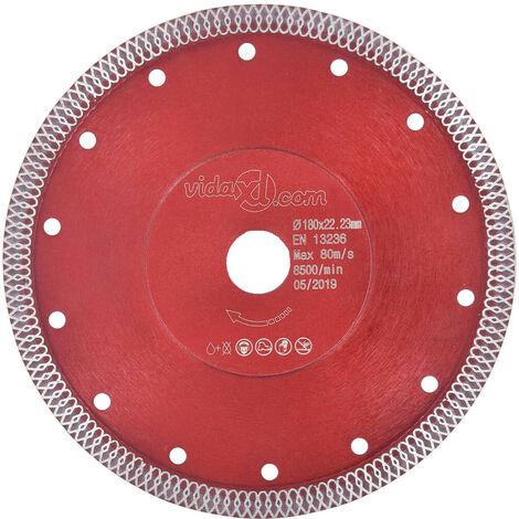 Hommoo Disco de corte de diamante con agujeros acero 230 mm