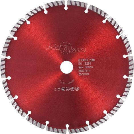 Hommoo Disco de corte de diamante con turbo acero 230 mm
