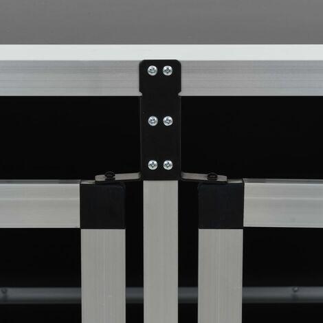 Hommoo Dog Cage with Double Door 89x69x50 cm QAH07223
