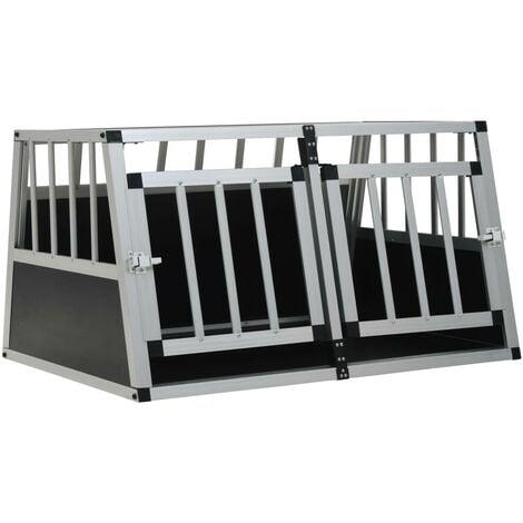Hommoo Dog Cage with Double Door 89x69x50 cm VD07223