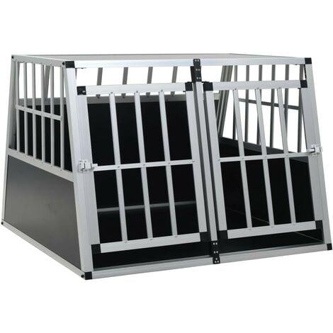 Hommoo Dog Cage with Double Door 94x88x69 cm VD07221
