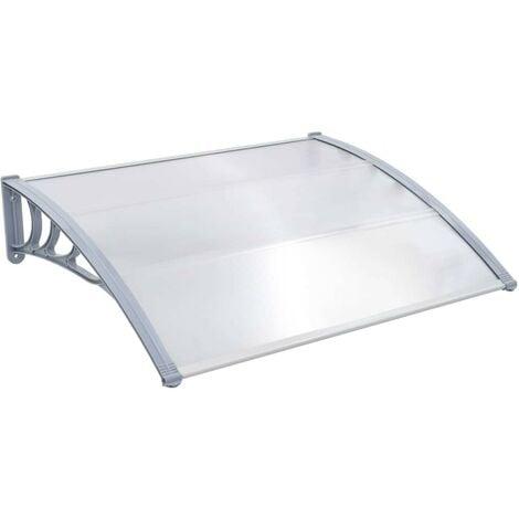 Hommoo Door Canopy Grey 120x100 cm Plastic