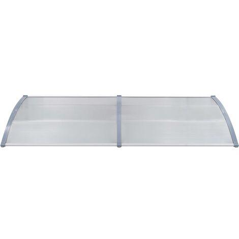 Hommoo Door Canopy Grey 240x100 cm PC QAH29761