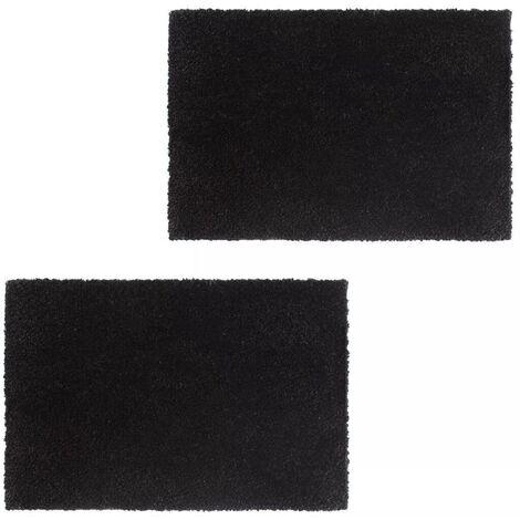 Hommoo Doormats 2 pcs Coir 17 mm 50x80 cm Black VD01715