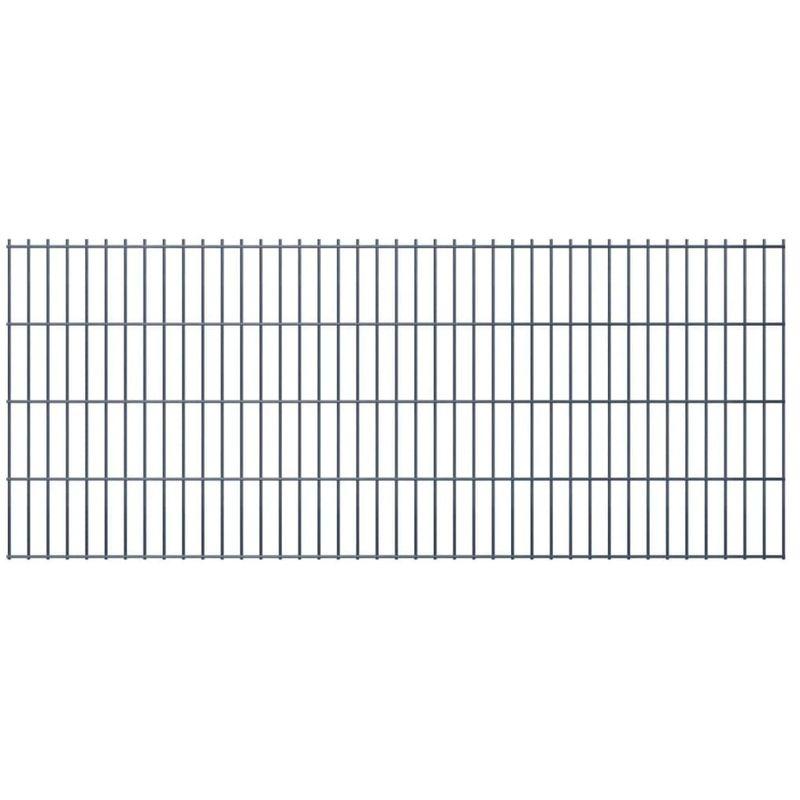 Doppelstabmattenzaun Gartenzaun 2008x830 mm 20 m Grau VD16529 - Hommoo