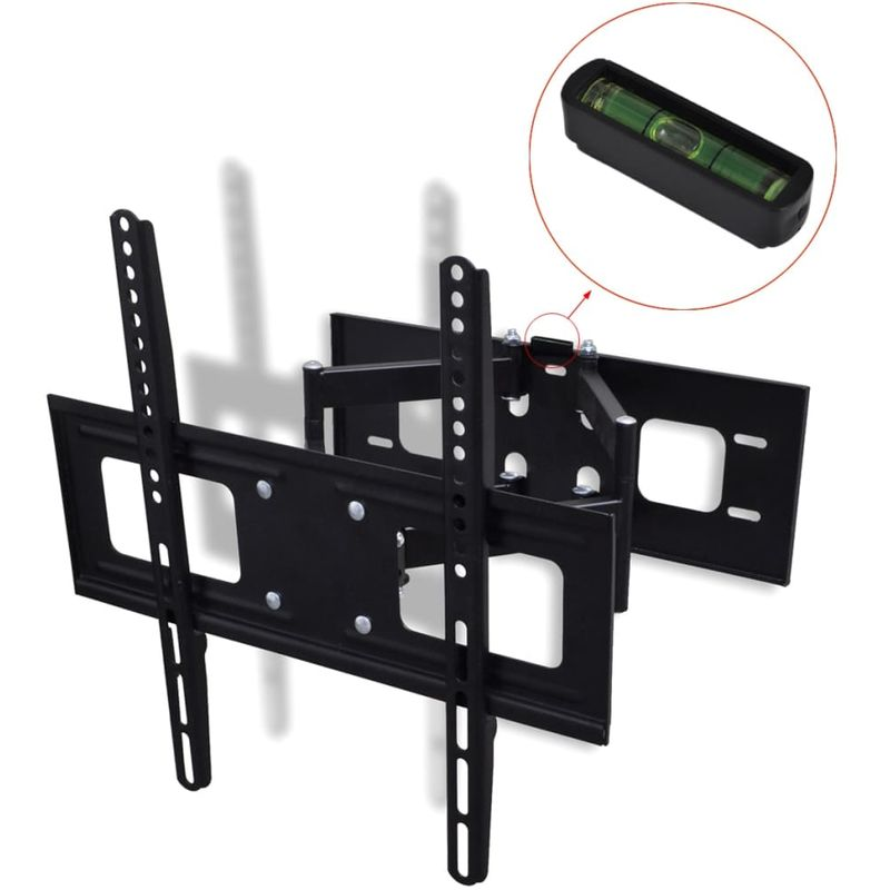 Double-armed Tilt & Swivel Wall Mounted TV Bracket 3D 400x400mm 32'-55' VD30362 - Hommoo