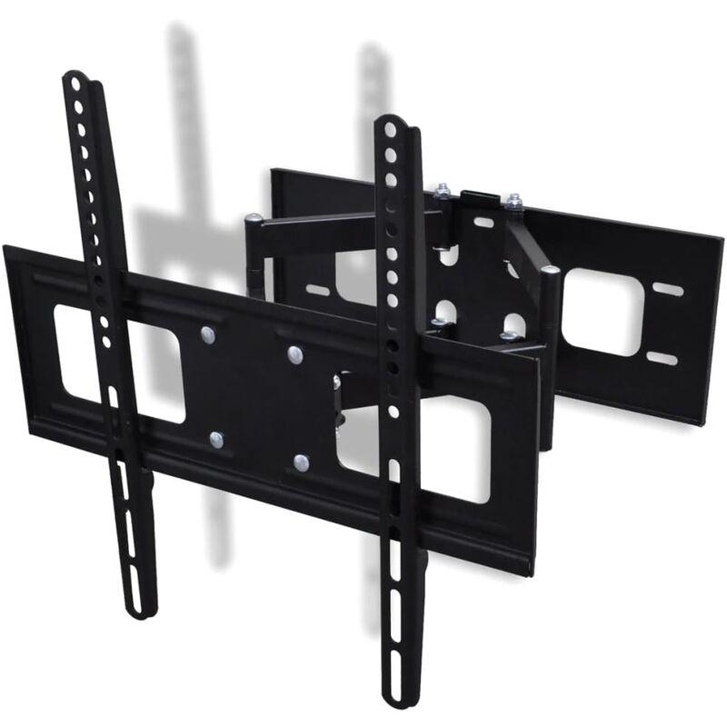 Double-armed Tilt & Swivel Wall Mounted TV Bracket 3D 400x400mm 32'-55' QAH30362 - Hommoo
