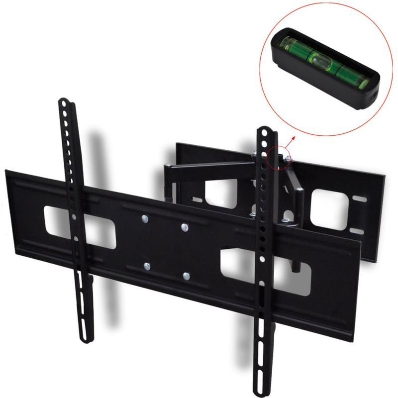 Double-armed Tilt & Swivel Wall Mounted TV Bracket 3D 600x400mm 37'-70' VD30363 - Hommoo